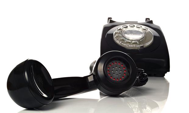 Retro black phone
